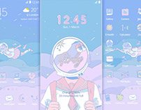 samsung theme design : yelyel's illustations collection