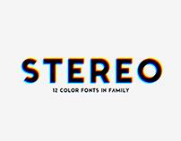 STEREO. Font Family.