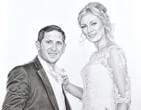 'Kieran & Jennifer' - Wedding Sketch