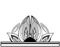 A Lotus Temple Vector
