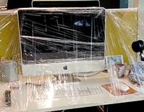 Desk Prank - Glad Wrap