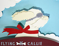 The Flying Callie: A Custom Pet Portrait