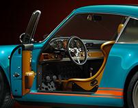 Porsche 911 ReImagined by Singer.CGI & Retouch- Studio