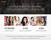 Youtube Influencer Landing/Onboarding Design