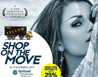 YELLOW SHOP ON THE MOVE Poster Design