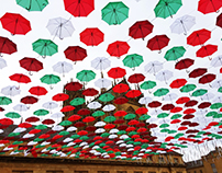 Metz Umbrella Sky X-mas Art Project 2015