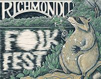 Richmond Folk Festival Poster 2016