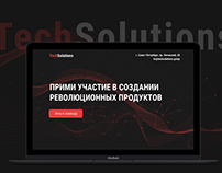 TechSolutions landing page