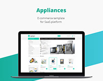 Appliances shop/E-commerce template/Web design/UI/UX