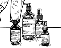Wiuep Denim Care Product Illustrations