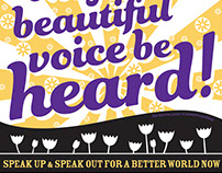 Women Speak Up & Speak Out Poster