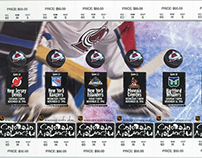 NHL Colorado Avalanche season ticket design