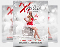 Xmas Party – Free Flyer in PSD