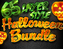 65 Halloween Layer Styles Mega Bundle