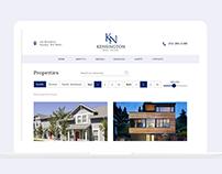 Real Estate Website Redesign Concept