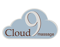 Cloud 9 Massage branding