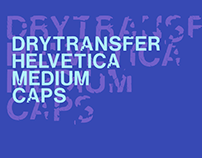 LRC Type - DryTransfer Helvetica Medium Caps (Free)