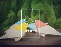 sparrow - wood toy