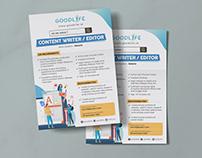 Job Vacancy Flyer Design