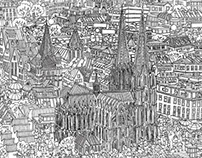 COLORING CITYPOSTER COLOGNE