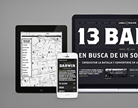 La batalla de los after - Promotional website for bars