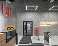 TECHNO LOFT BC lobby design