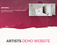 Artists Demo Website