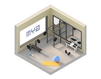Low Poly Isometric Gym