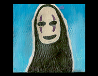 No Face Mini Canvas