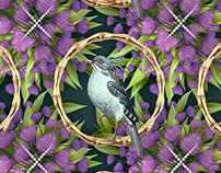 Pattern design Bling Birds 12 Edouard Artus ©2018