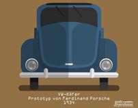 VW-Käfer-Prototyp, , von Ferdinand Porsche 1934