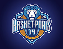 Basketball logo, BASKET-PARIS 14