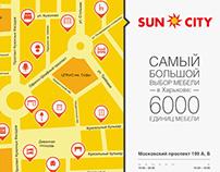 """Рекламный постер для МЦ """"Sun City"""""""
