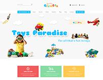Giraffe - Kid Education PSD Template - Shop Page