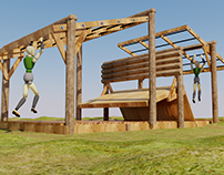 "8"" Log Combination Obstacle ""The Flying Buttress"""