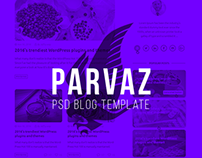 Parvaz - Personal Blogging PSD Template