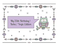 My Boho Birthday Party Invite