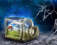 Photoshop Art - In a bottle
