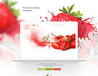 Free Product Landing Page Template