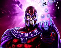 Estudo de Cores - Magneto - X-Men