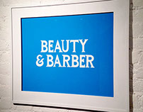 Beauty & Barber lettering