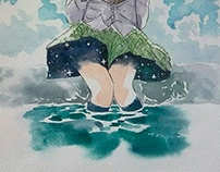 Watercolor month July