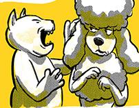 Dogs + Cats Comics Cartoon Illustrations