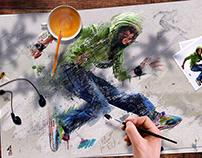 """Ten"" for Fotolia : Street Art"