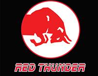 RED THUNDER softdrink logo new branding
