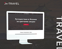 Jn-TRAVEL. Landing Page for a travel company.