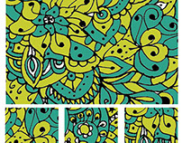 Colored Geo-Paisley Pattern