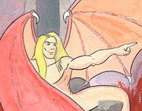 Lucifer watercolors