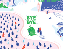 "illustration ""BYEBYE"" (2018)"