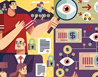 Ilustraciones Transparencia y Anti corrupción